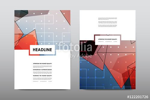 Free Booklet Template Wektor Brochure Layout Template Flyer Design Vector Magazine .