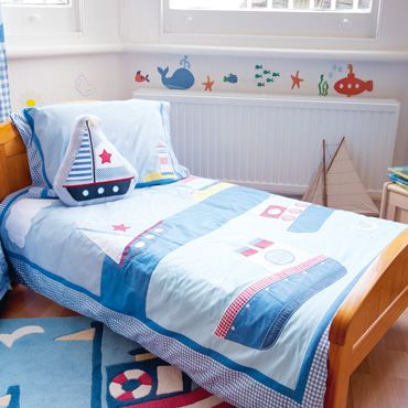 Nautical Junior Or Cot Bed Duvet Set Quilts And Bedding Nursery