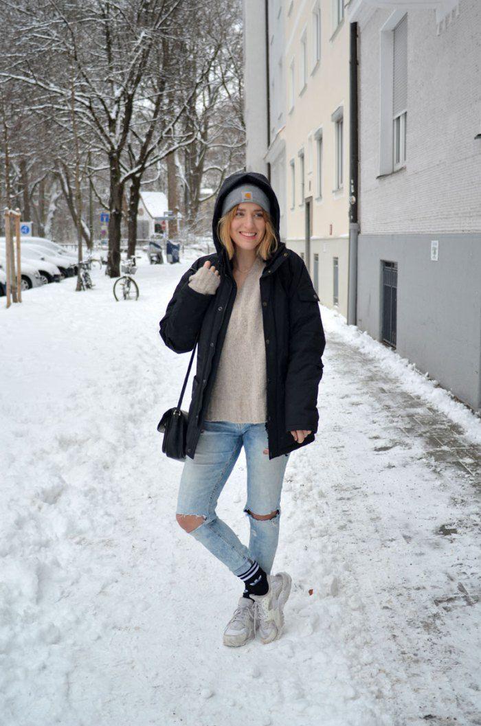 brushmeetspaper outfit blogger streetstyle munich m nchen schnee urban huarache sneaker carhartt. Black Bedroom Furniture Sets. Home Design Ideas
