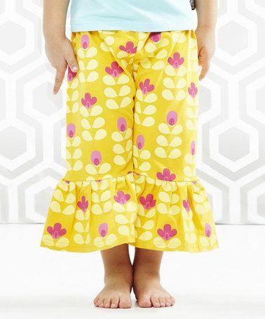 Orange Flower An-Enenenomy Pants - Toddler & Girls by Servane Barrau Designs #zulily #zulilyfinds