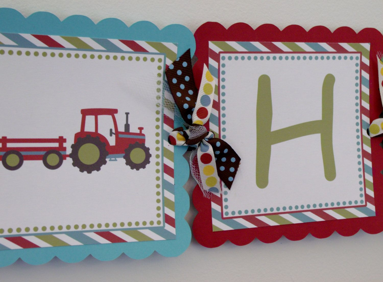 Tractors birthday banner. Cute!!