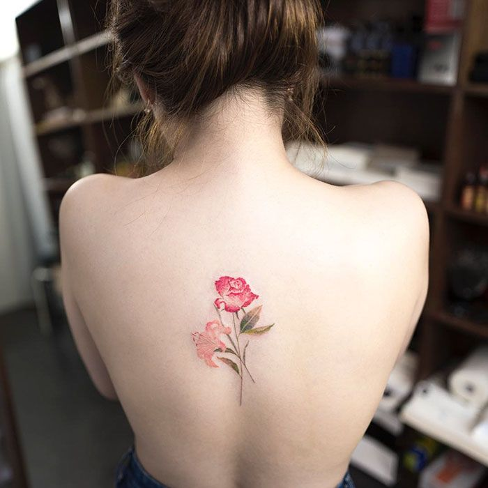 1acbd5b94a159 15+ Delicately Beautiful Tattoos By South Korean Artist Hongdam http://www.