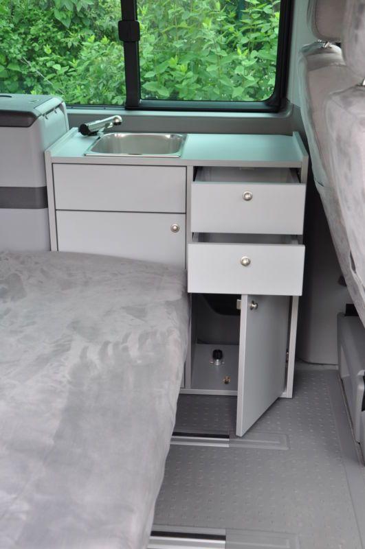 Camping küchenblock selber bauen  Details zu Camping Küche - VW T5 T6 Küchenzeile +++ NEU+++ | Vw t5 ...