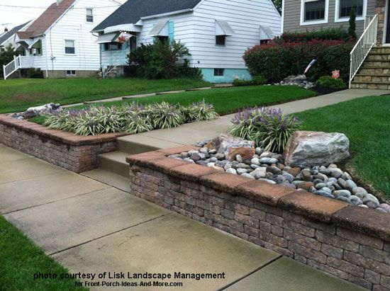 front yard landscape designs with before and after pictures retaining wall - Landscape Design Retaining Wall Ideas