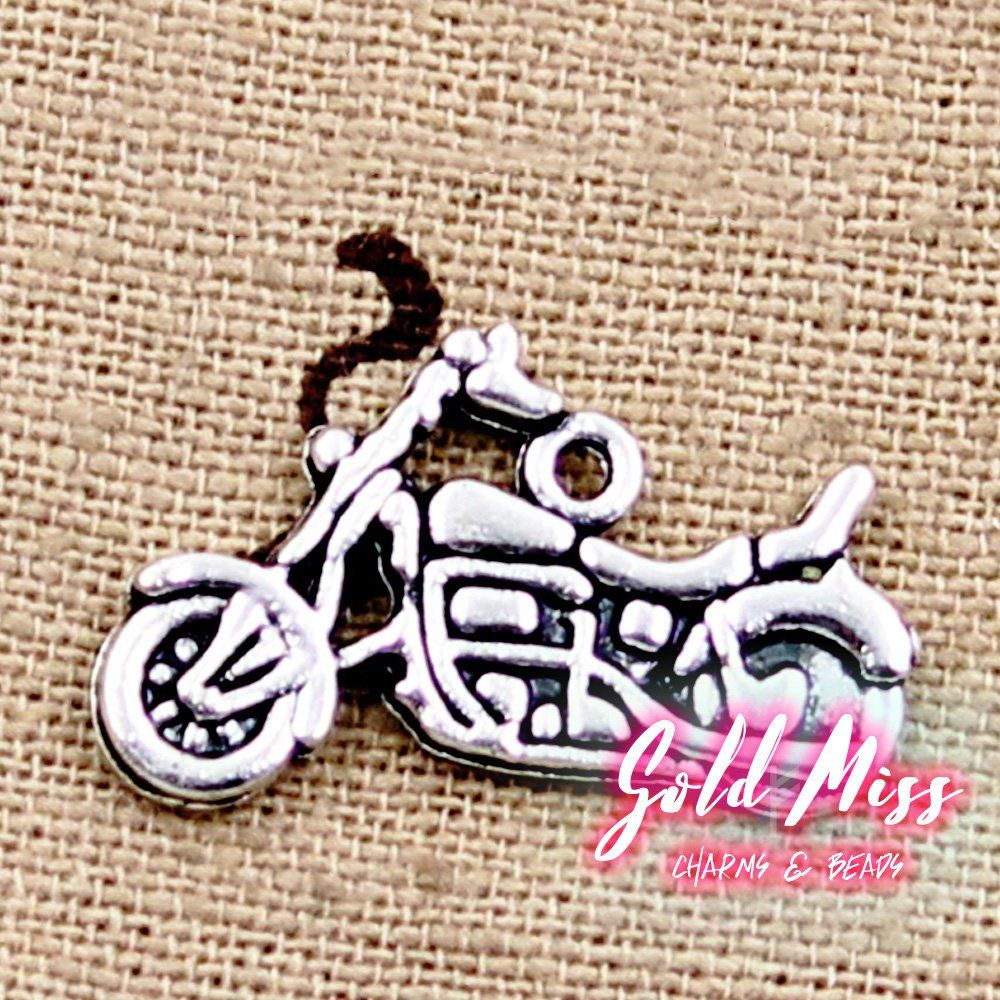 Motorcycle Charms Tibetan Silver Bad Boy Scooter For Men Whole Jewelry Findings Usa Free Shipping Diy Supply From Goldmissco
