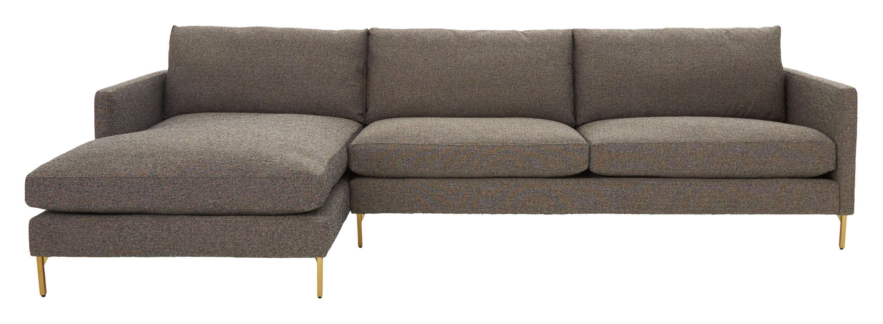 With its clean lines and classic silhouette, our Ryder Sectional brings just the right amount of retro wherever it goes. Inspired by mid-century design, this spacious piece pairs a sleek, streamlined silhouette with perfect proportions and thin brass legs for a chic pop of shine. But don't let its trim and tailored looks deceive you — Ryder is made for relaxing, with soft yet supportive seat cushions, plush, sink-in back cushions and a low profile. Great for lazy weekend lounging, it's a must-ha