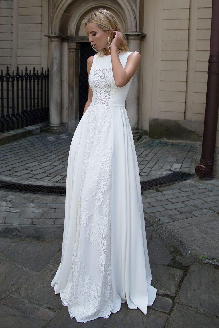 Découvrez la robe Heaven, une robe de mariée en georgette de soie ...