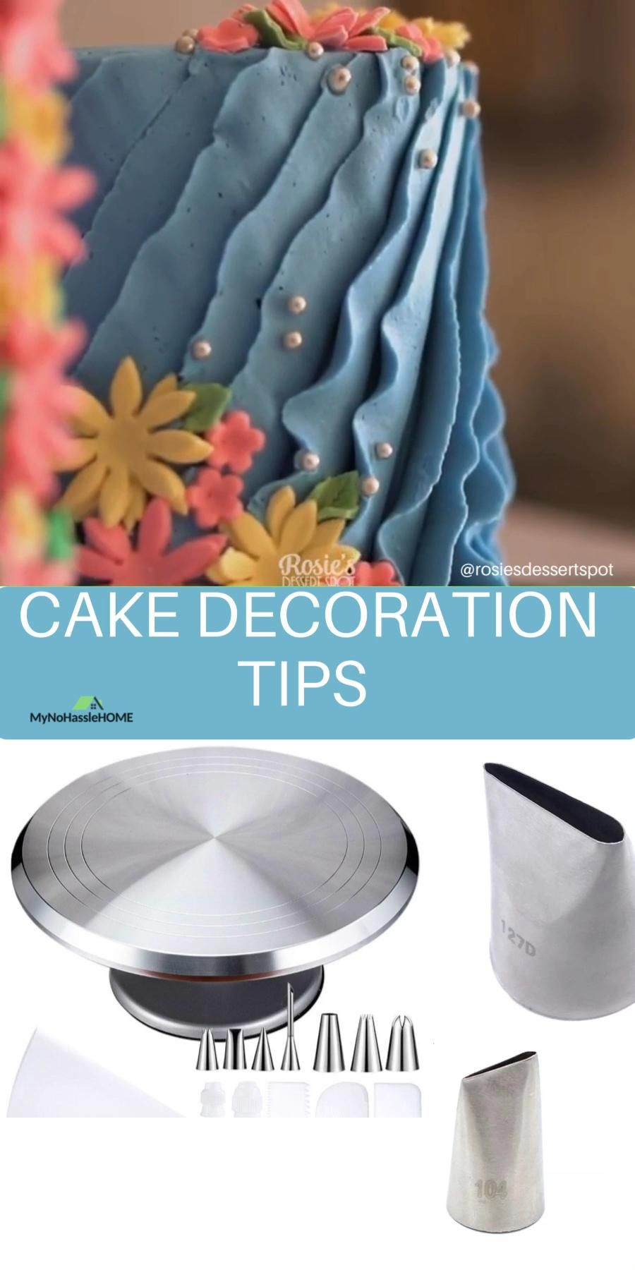 Beautiful cake decoration with cake decoration tip