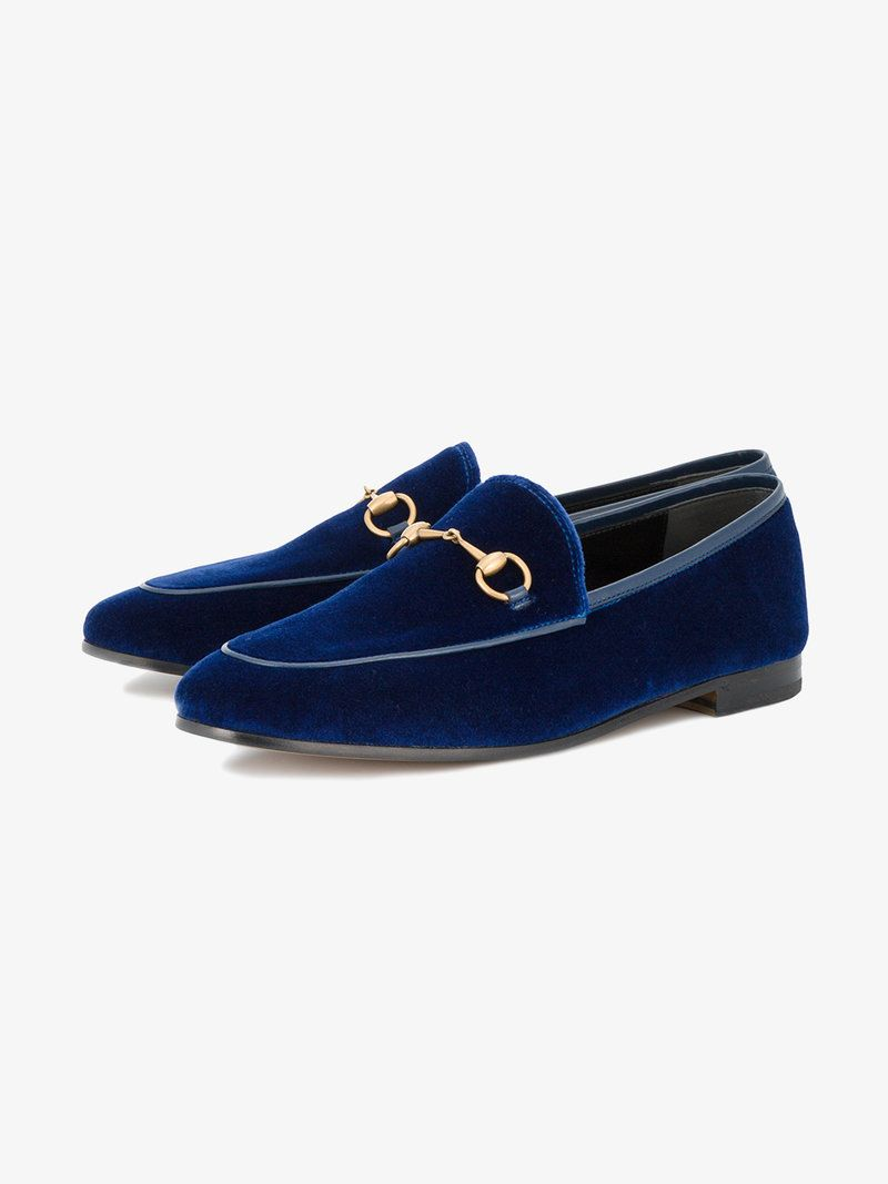 ddfdc53e1 Gucci Gucci Jordaan velvet loafer | Shoes in 2019 | Loafers, Gucci ...