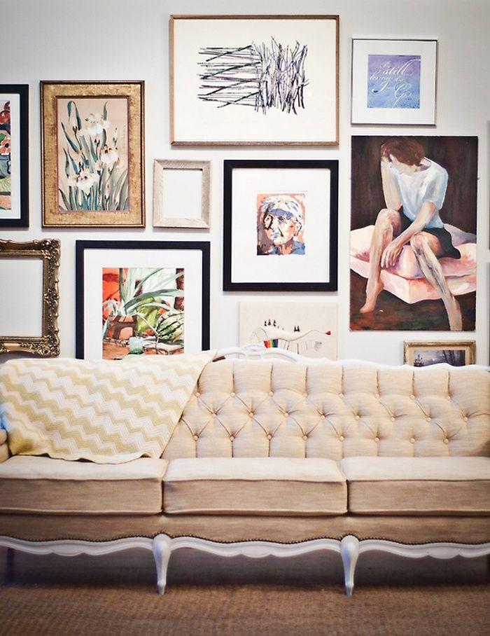 Gallery wall technique -pin for Sofa refurb idea   interiors ...