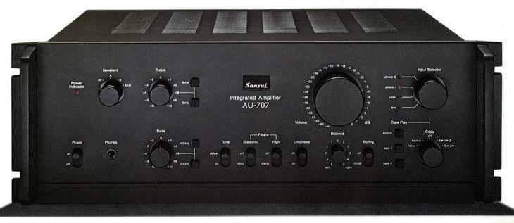 SANSUI AU707 (launched 1976) Stereo amplifier