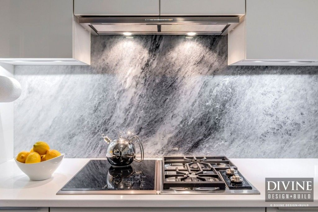 Gray Marble Slab Backsplash And Miele Range Hood #kitchendesign Mesmerizing Kitchen Design Massachusetts Review