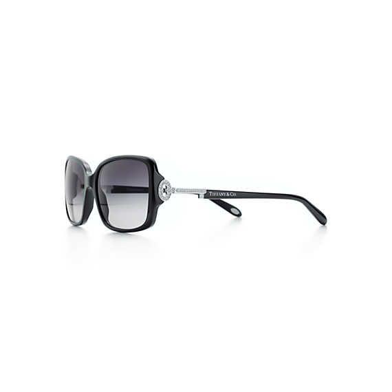 9f0efbffed9d Tiffany Keys rectangular sunglasses with silver-colored keys.