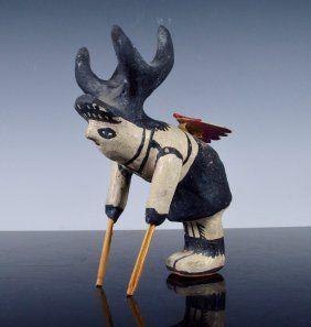 Early Cochiti Pueblo Deer Dancer Pottery Figurine