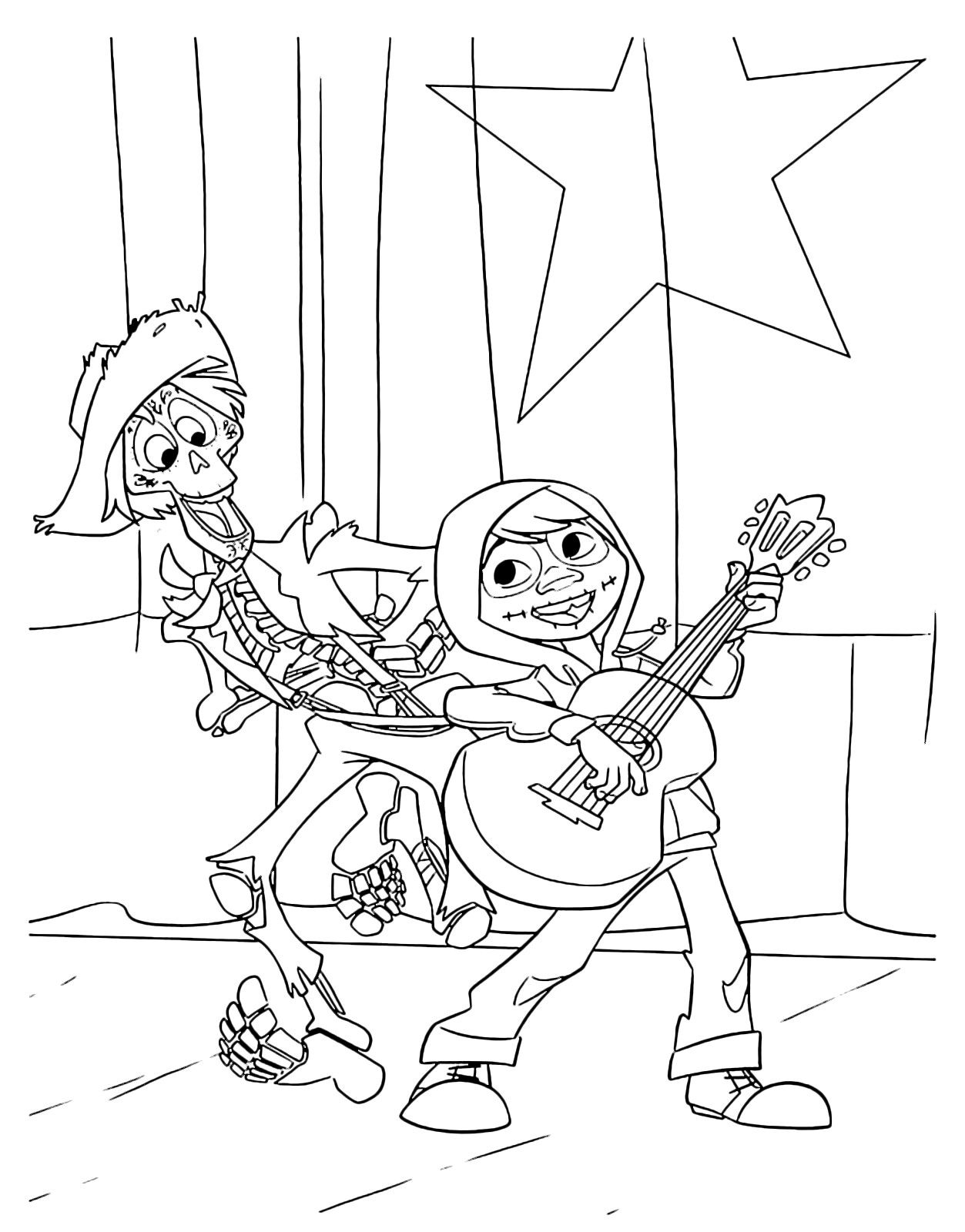Pin de FunCraft DIY em COLORING PAGES COCO Disney