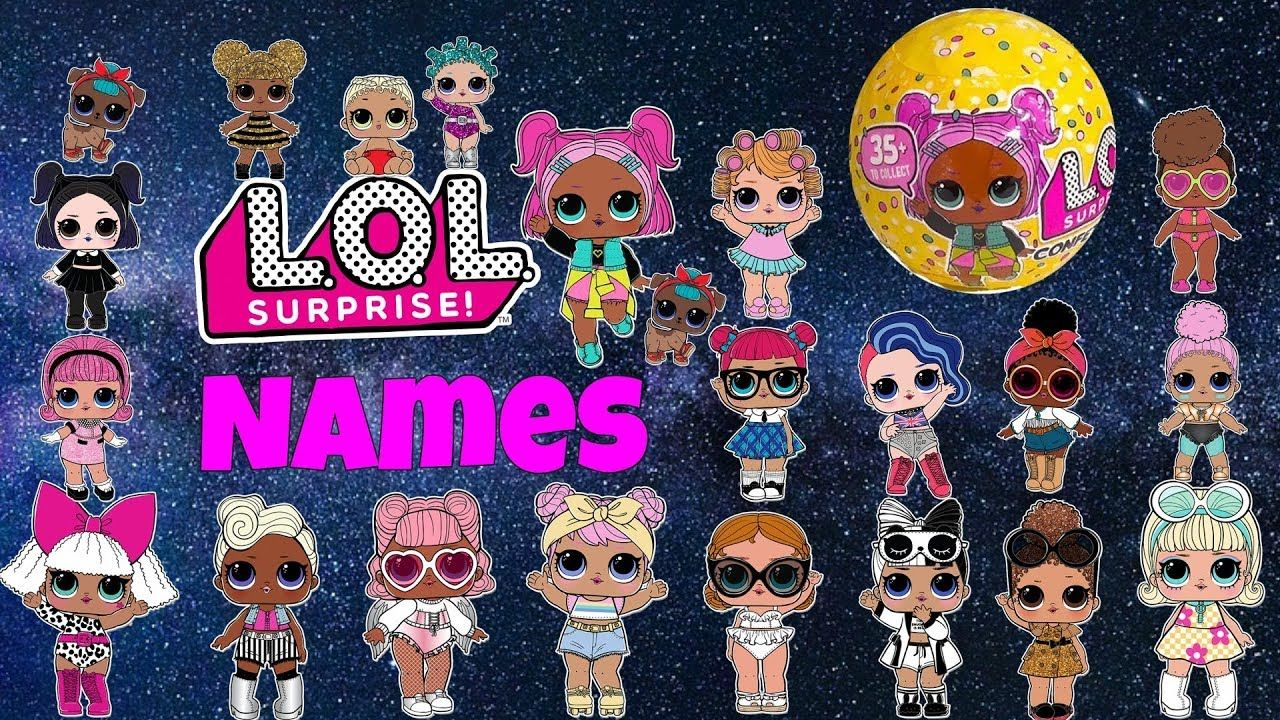 Lol Surprise Dolls Names Charts Confetti Pop Series 3 Lil Sisters Pets Lol Surprise Dolls Lol Surprise Names Of Lol Dolls Lol Lol Dolls Lil Sister Dolls