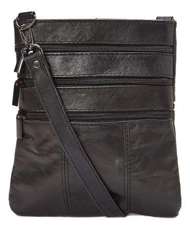 Black Leather Crossbody Bag #zulily #zulilyfinds