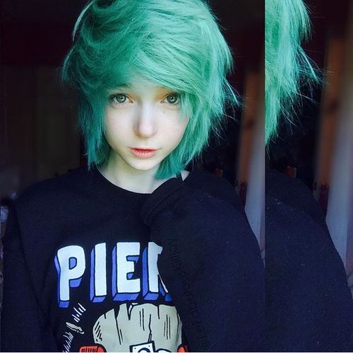 green hair, hair, and cute image | MY FASHION STYLE | Pinterest ...