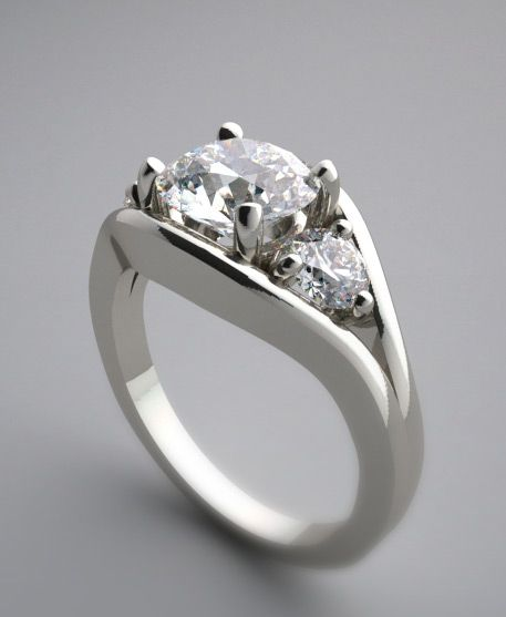 Types Of Ring Mountings Designer Exclusive Feminine Three Stone Setting