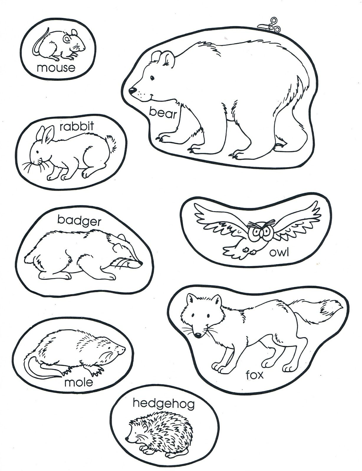 A Teacher Without A Class The Mitten The Animals The The Mitten Coloring Page