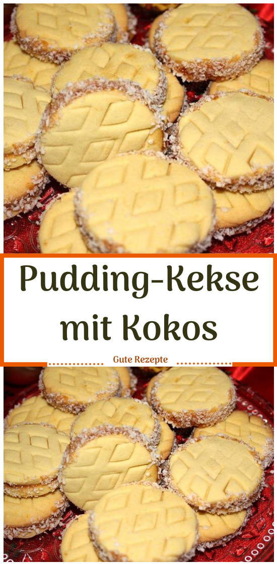 Pudding-Kekse mit Kokos #Kokos #Kekse #Kuchen #Pudding #Backen