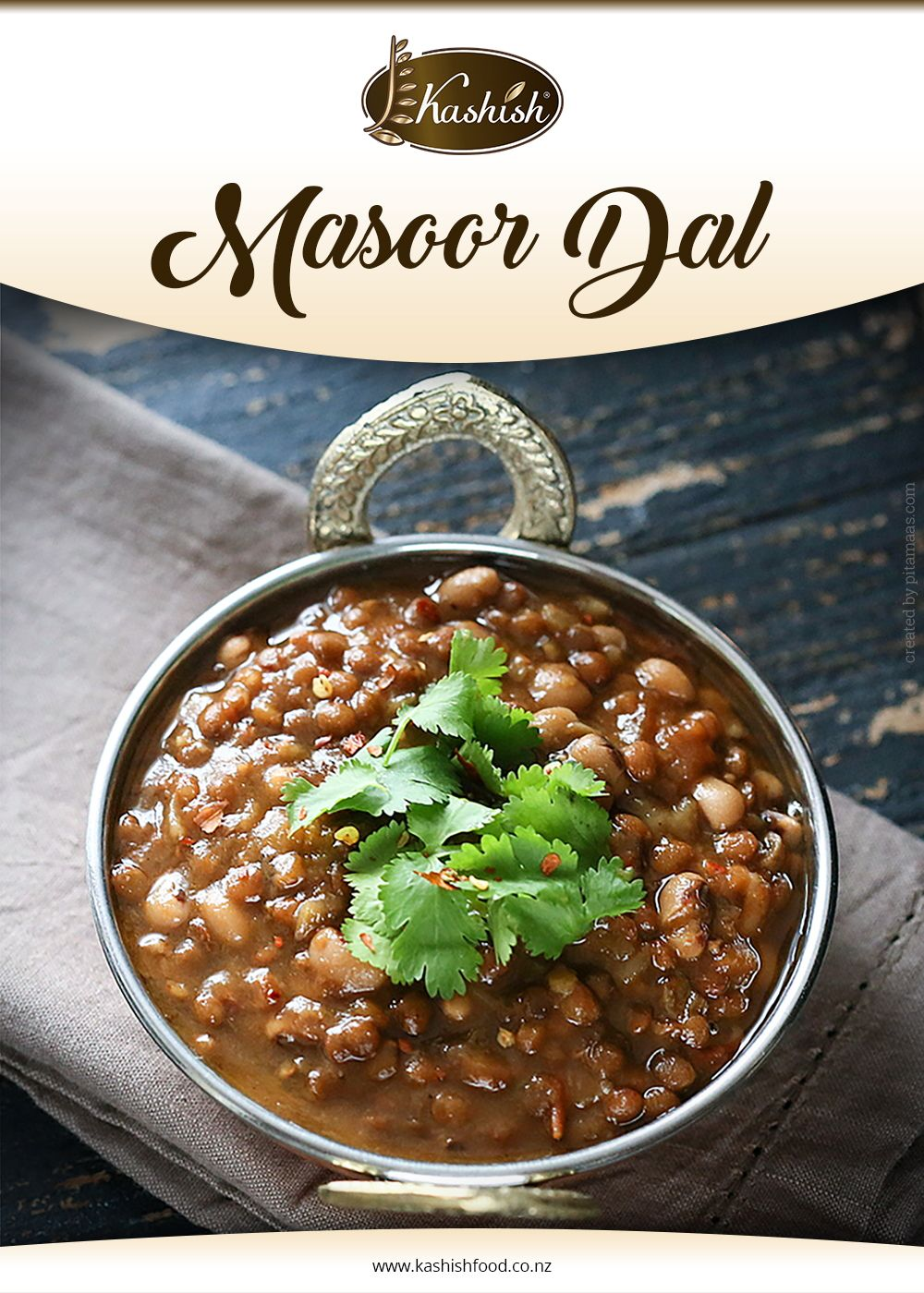 Masoor dal is rich in fiber and iron. It tastes amazing