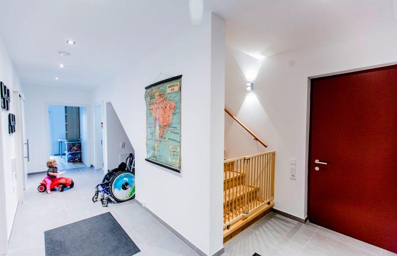 Wohnideen Eingangsbereich fertighaus wohnidee diele flur treppe haus fertighaus eingang
