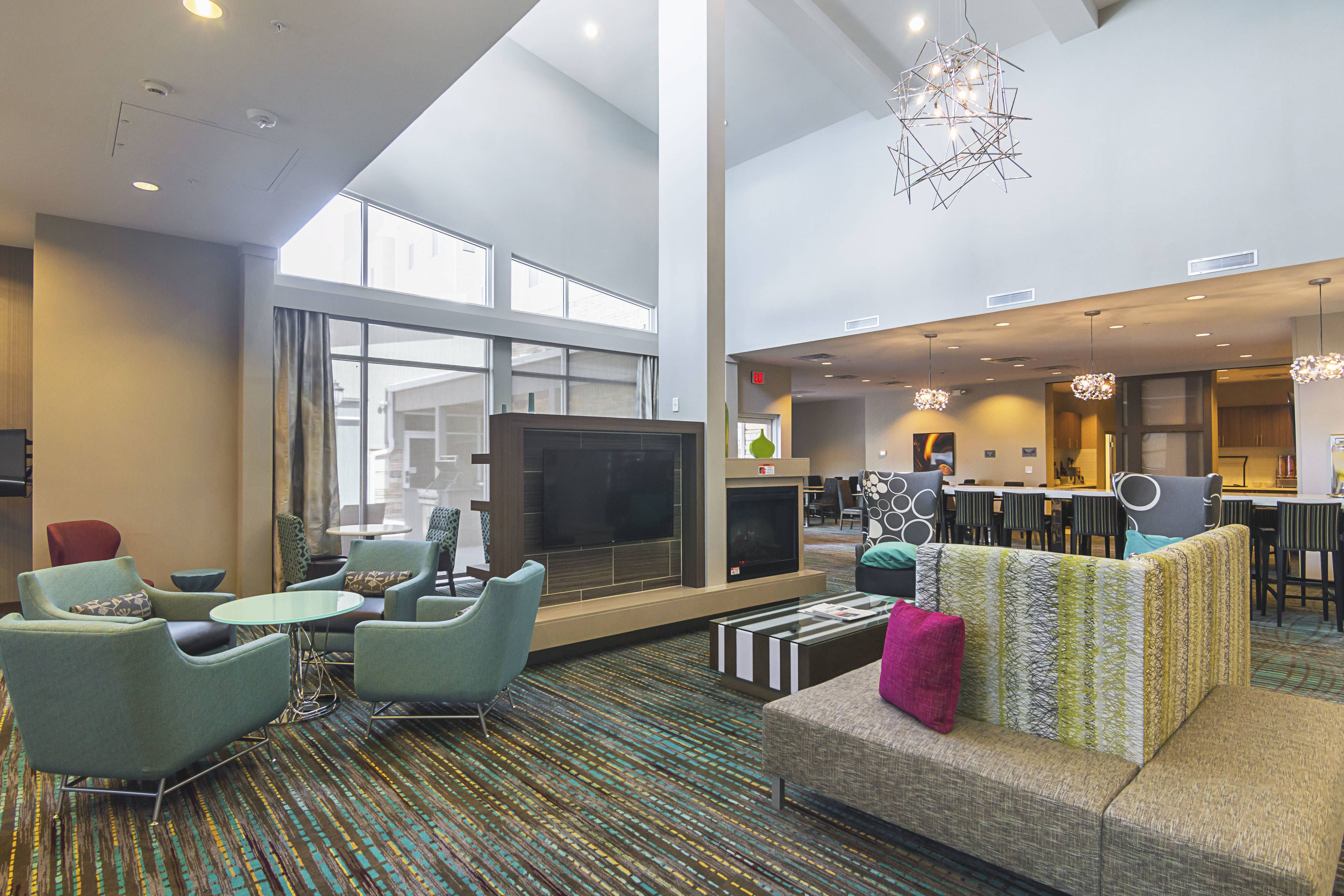 Residence Inn Denton Lobby Comfort Rooms Beautiful