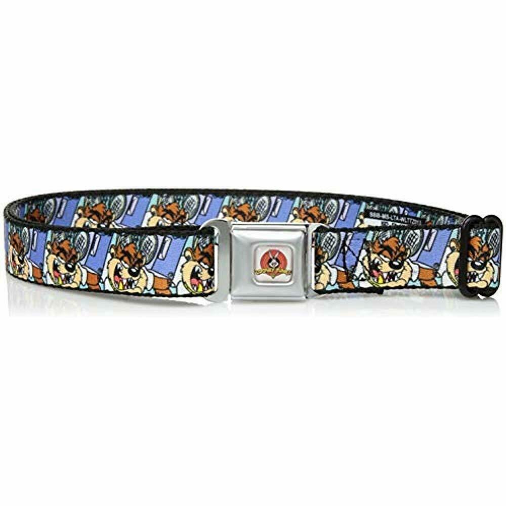 9a254220 Buckle-Down Belts Men's Seatbelt Tasmanian Devil Taz Kids Boom Box ...