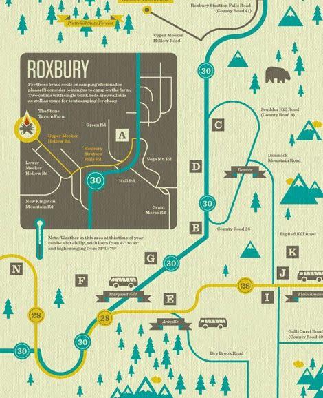 Beautiful Map Illustration Design Inspiration Graphics
