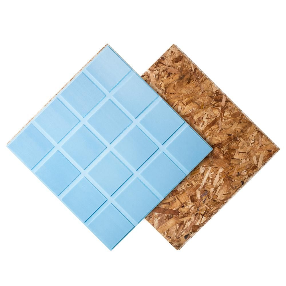 Dricore R Insulated Subfloor Panel 1 In X 2 Ft X 2 Ft Specialty Panel Fg10003 Luxury Vinyl Click Flooring Basement Flooring Basement Renovations