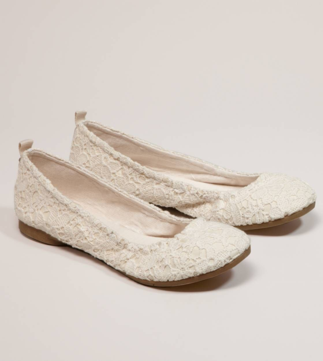 4e896c3d672 Cream Crocheted Lace Ballet Flats... could use some of these for my  honeymoon dress