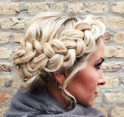 30 elegantes peinados de trenza francesa | caja larga trenzas peinados updo nudo…