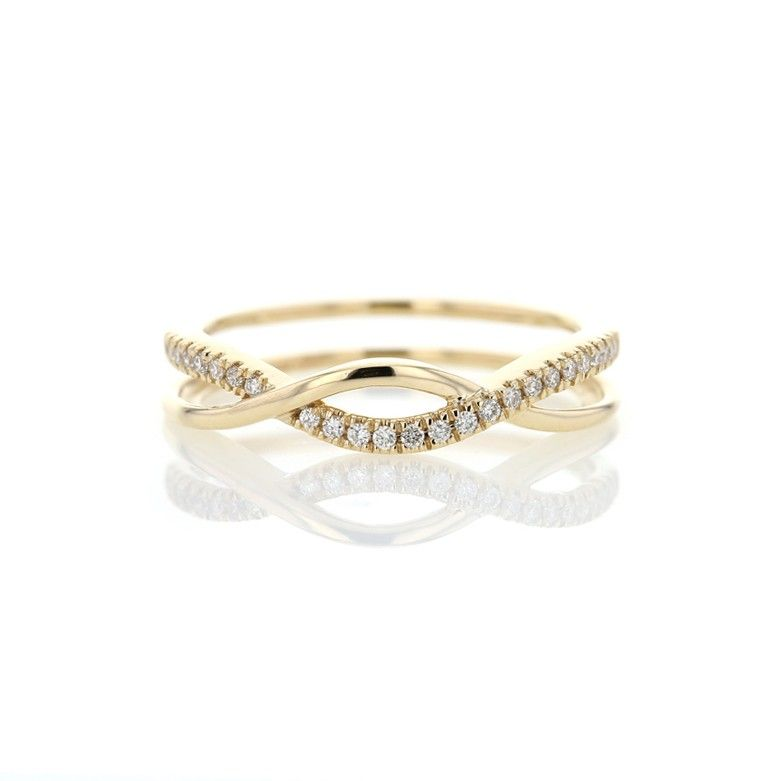Diamond Crossover Infinity Band Ring 14k 10ct Infinity Band Ring Shop Engagement Rings Delicate Diamond Ring
