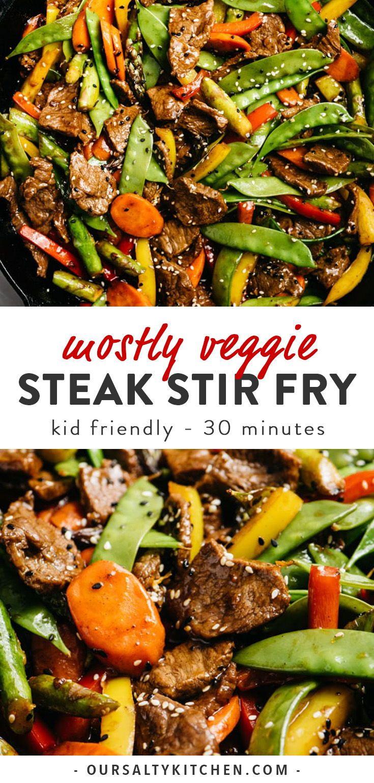 Photo of Mostly Vegetable Steak Stir Fry