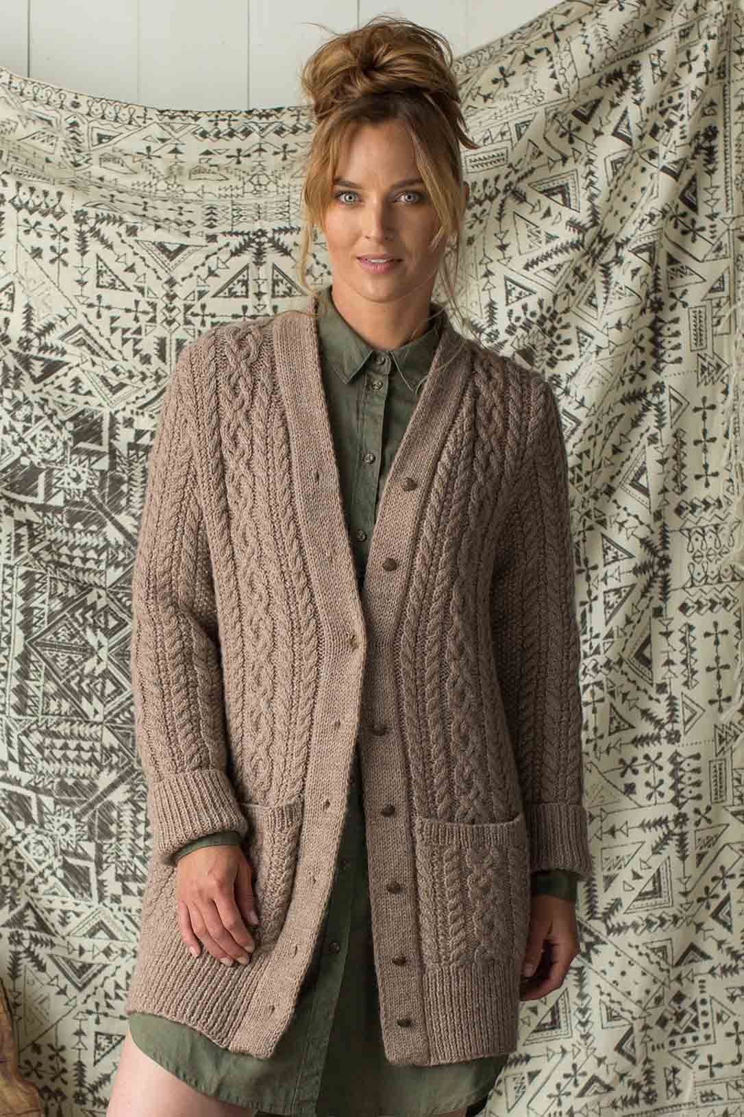 a1b080b34 Curl up with Sarah Solomon s Clear Creek Cardigan! This standout modern classic  cardigan knitting pattern showcases all the best