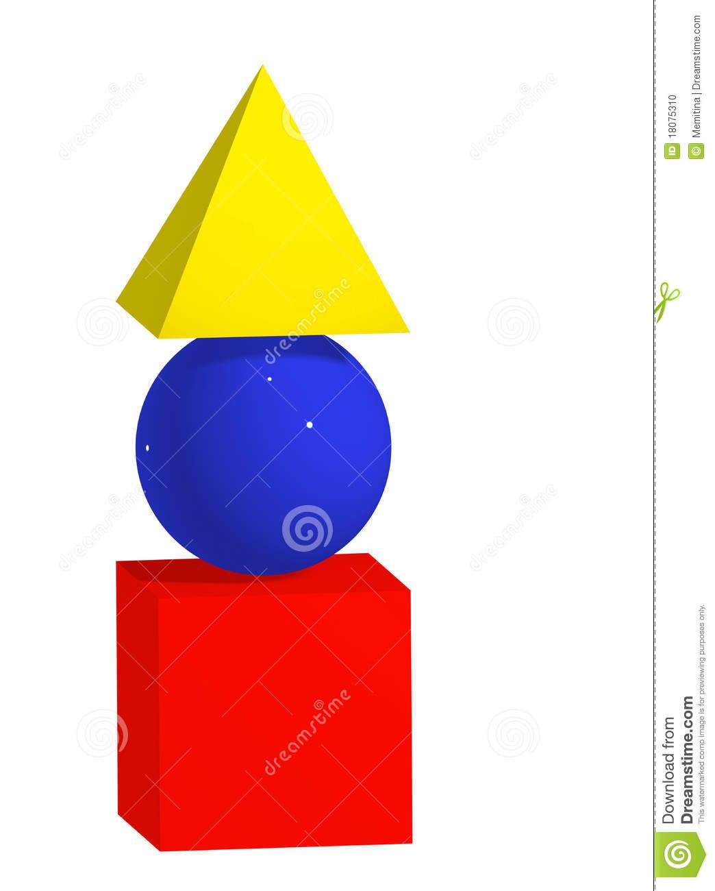 Primary Colours And Shapes Stock Photo - Image: 18075310