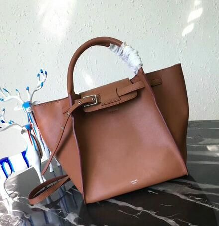 f29d6bc06f32 Celine bags 2018 Celine Medium Big Bag in Brown Smooth Calfskin Leather