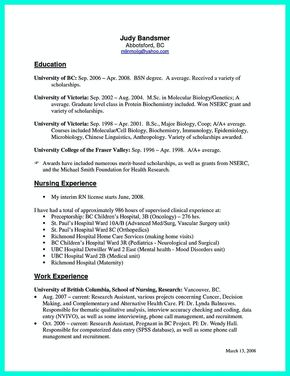 Perfect Crna Resume To Get Noticed By Company Nursing Resume Template Sample Resume Cover Letter Sample Resume