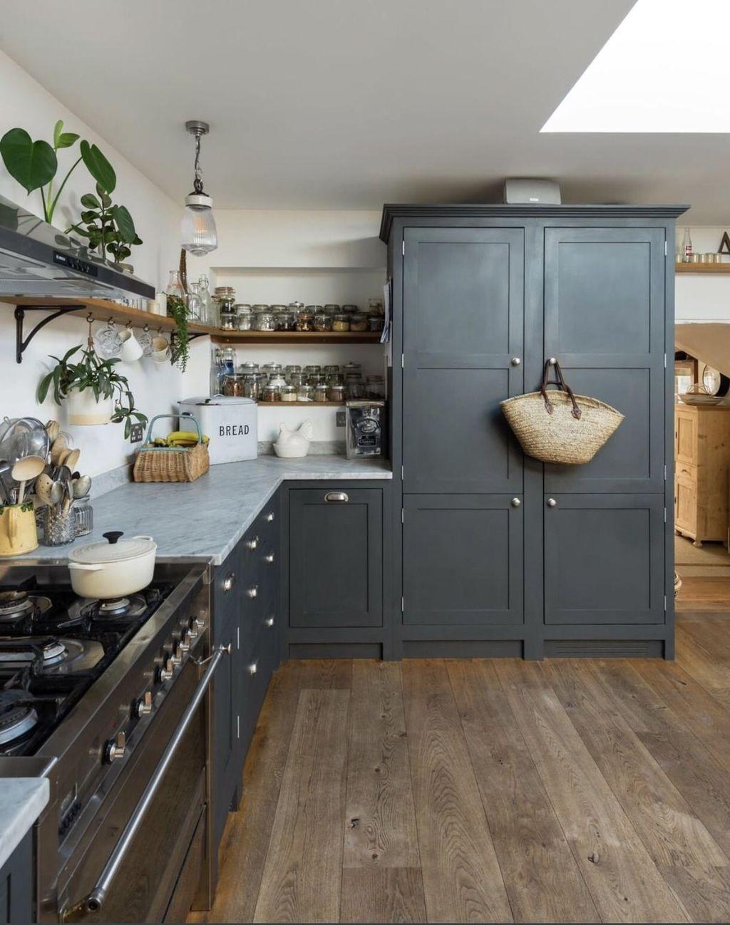 9 Inspiring Dark Grey Kitchen Design Ideas   PIMPHOMEE   Wood ...