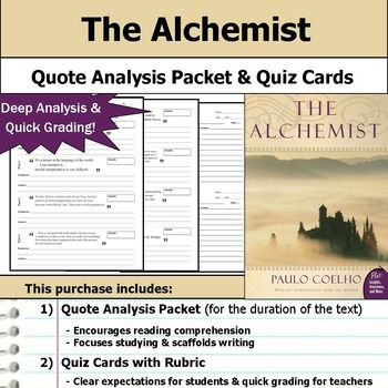 the alchemist quote analysis reading quizzes