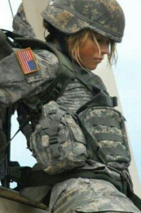 .Female Soldier doing her part