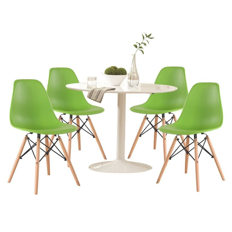 Lowry 5 Piece White And Apple Green Dining Set | Weekends Only Furniture  And Mattress