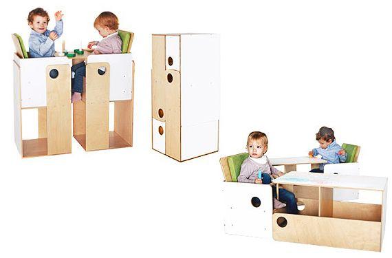 Muebles compactos y multifuncionales para gemelos | Pinterest ...