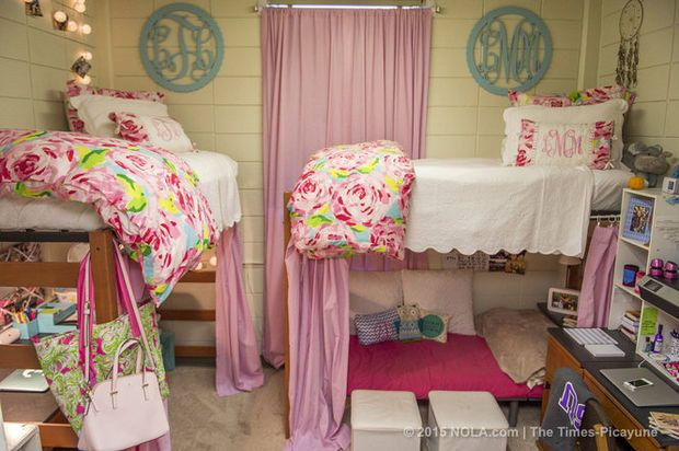 Living big in small spaces: LSU students showcase dorm room decor ...