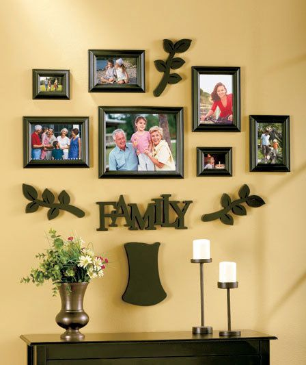 Family Frames Wall Decor black 12-pc. family tree frame sets wall decor photo frames | wall