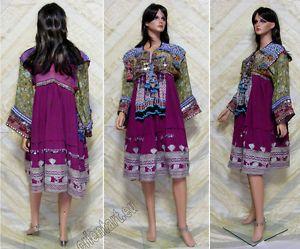 Vintage afghanistan ethnic traditional dress costume Nomaden afghan kleid No-3   eBay