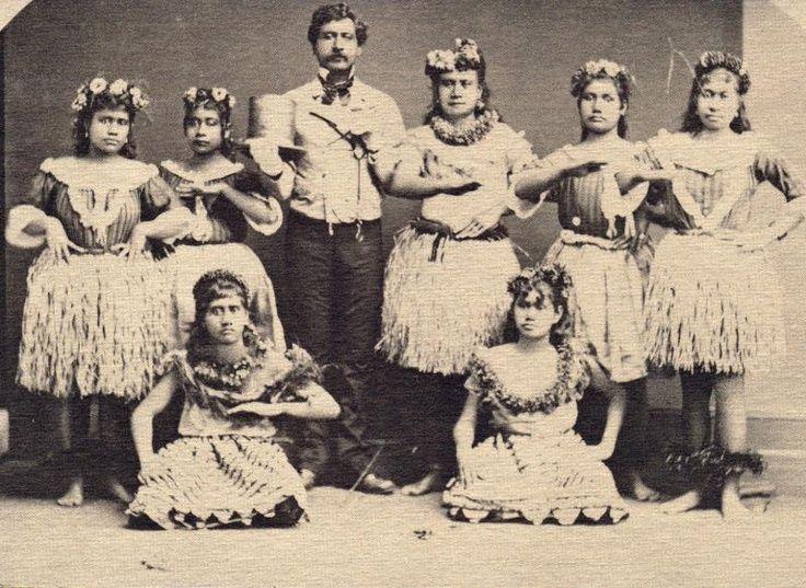 8a50022d9baa Hawaiian Women 1800   Hula dance class, late 1800s   circa 1800's    Pinterest