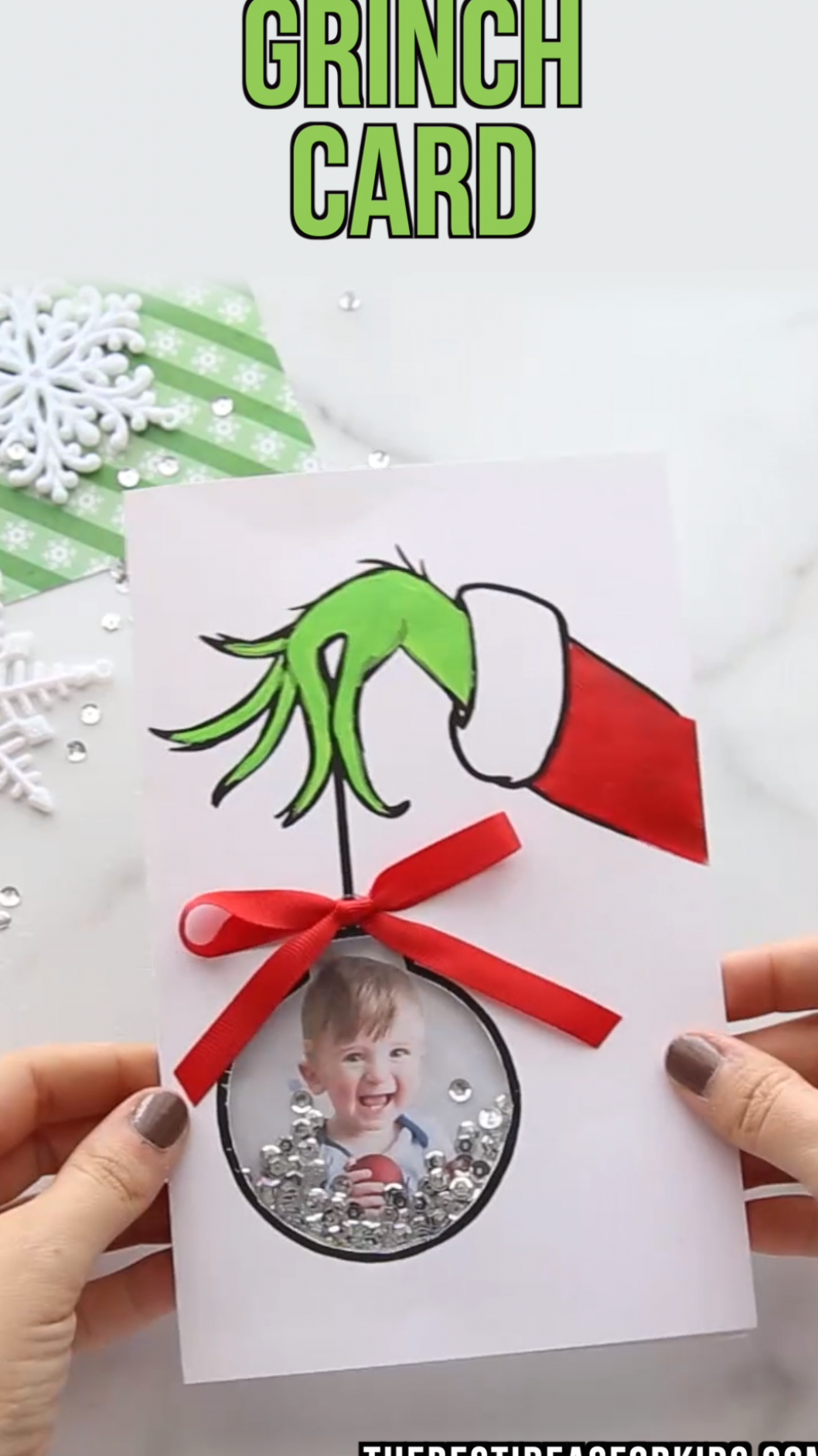 Grinch Card Christmas Card Crafts Kids Christmas Christmas Cards