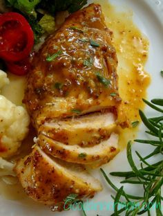Sweet Mustard Chicken. Super easy and full of delicious flavor!